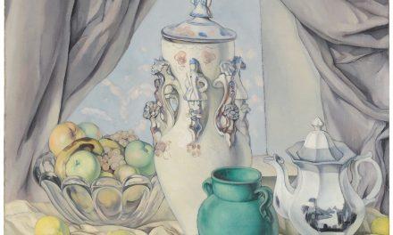 """""""Bodegón con limones, cerámica y frutero"""" (hacia 1929), de José Pinazo Martínez"""