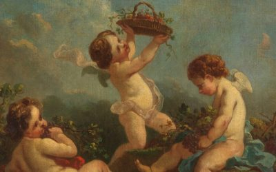 """Amorcillos vendimiando"" (siglo XVIII), de François Boucher"