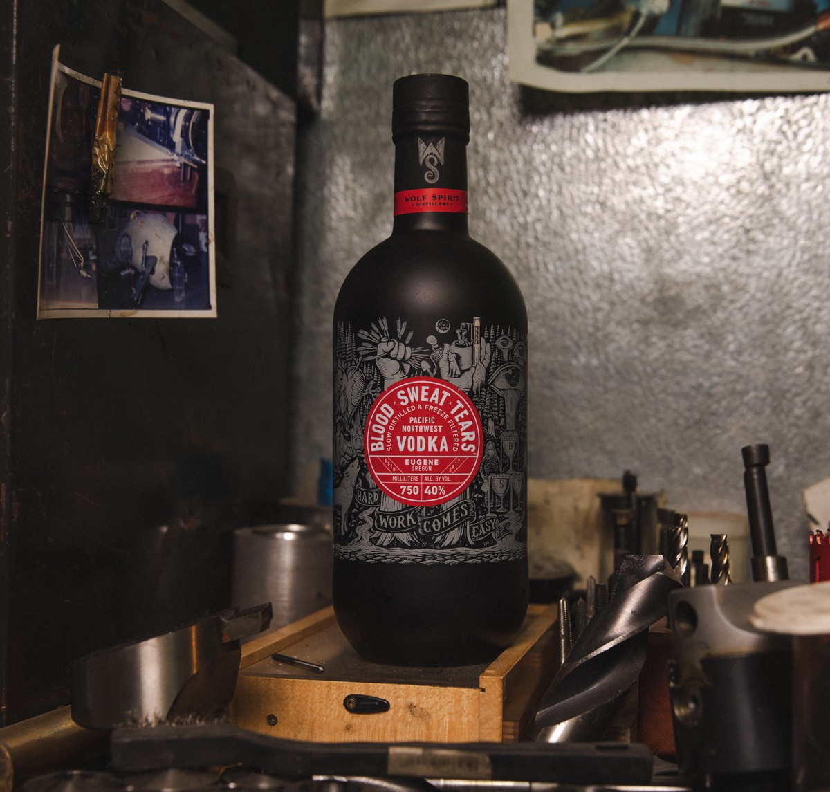 Oregon-based Wolf Spirit has launched Blood x Sweat x Tears vodka