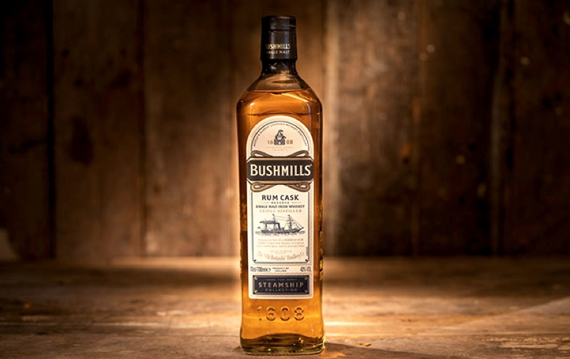 Bushmills Rum Cask Reserve is the fourth bottle in The Steamship Collection