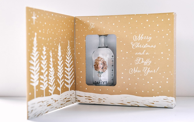 Inside the Daffy's Gin Christmas card