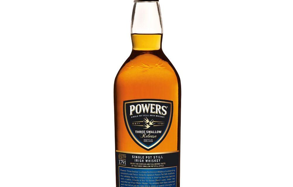 Powers Three Swallow Irish whiskey debuta en Estados Unidos