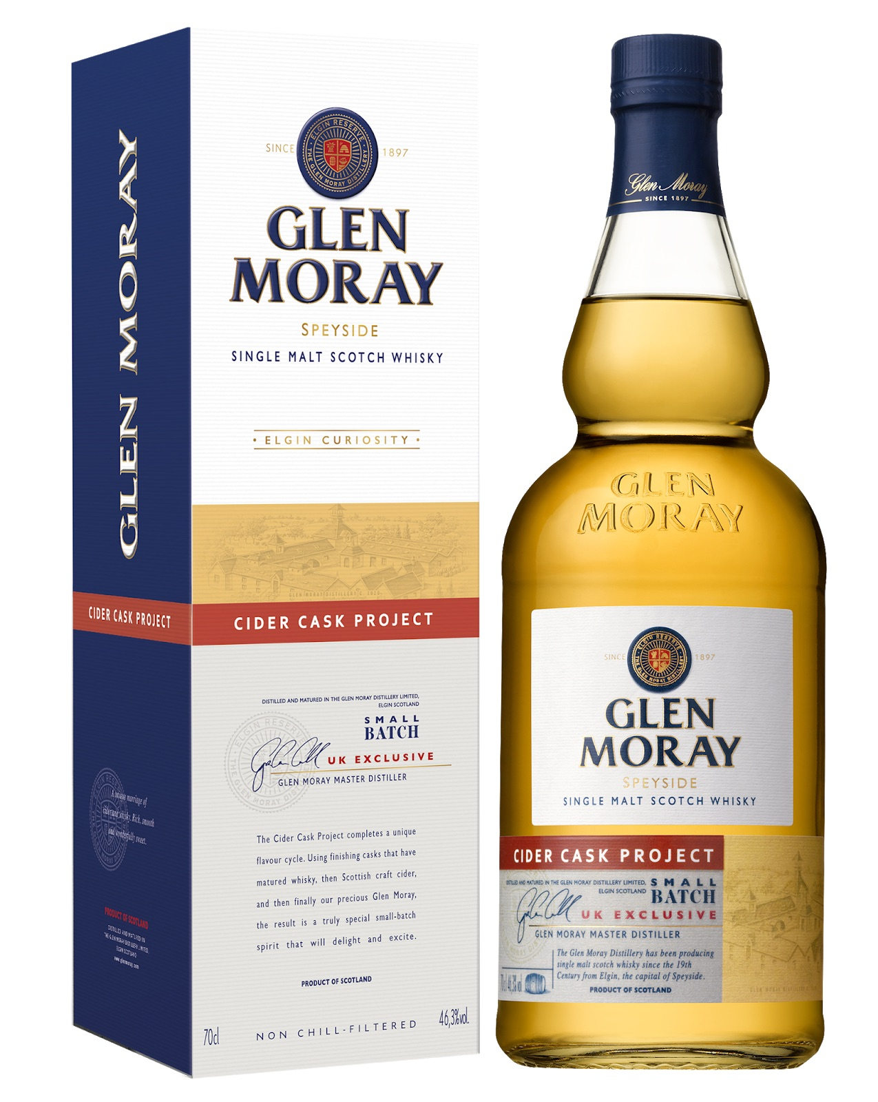 Glen Moray Cider Cask Project has been aged in casks that previously held Thistly Cross Cider