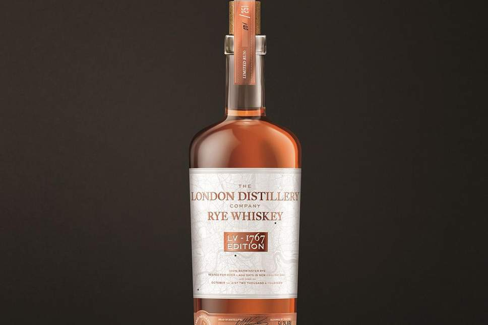 The London Distillery Company Rye Whiskey LV-1767 Edition is made from 100% rye