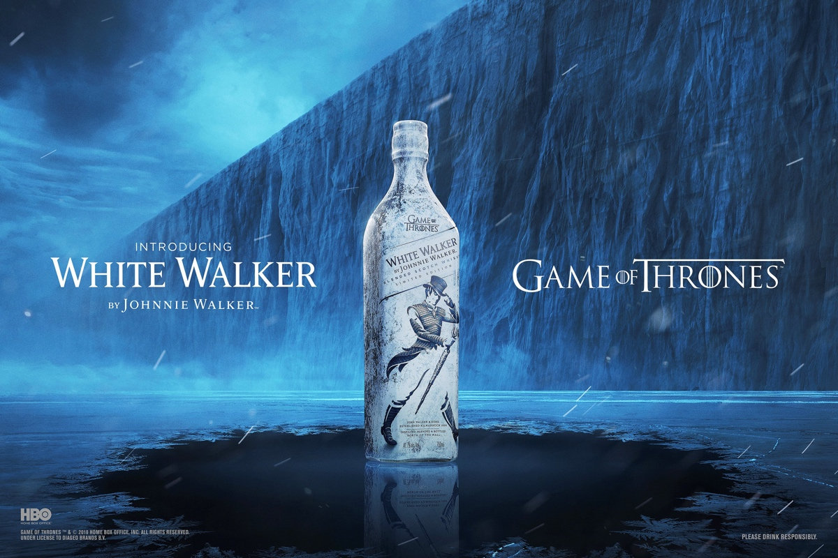 White Walker by Johnie Walker is inspired by the undead army of White Walkers