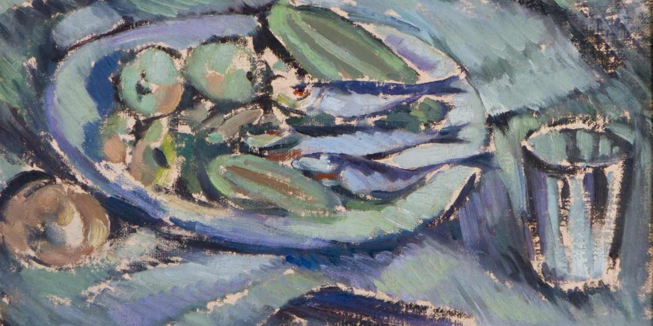 """Arenques sobre un plato"" (1916), de Tyko Sallinen"