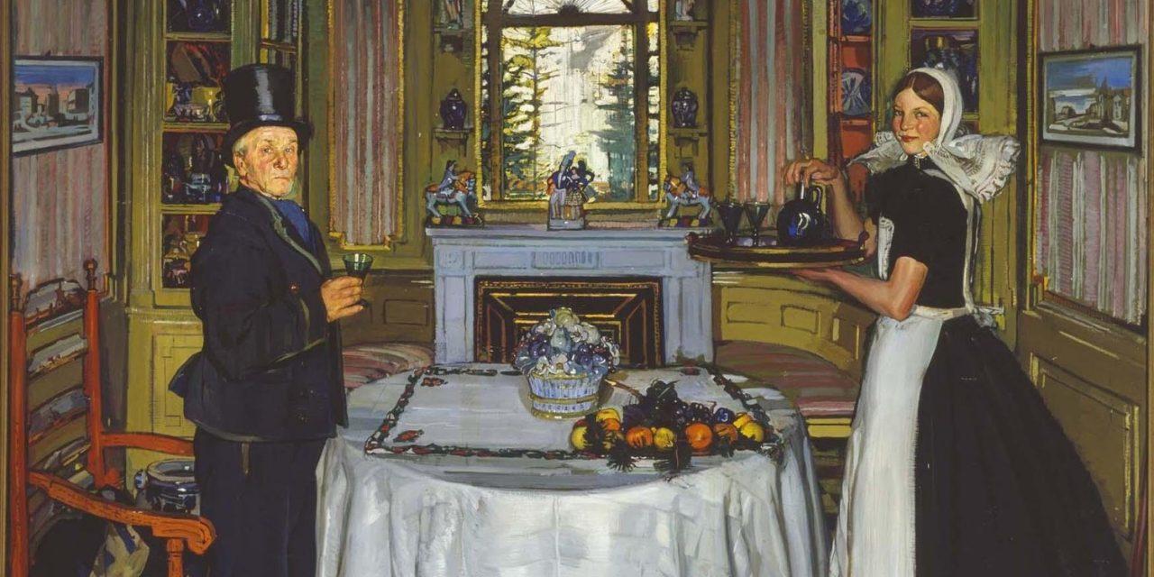 """""""Jacobo van Amstel en mi casa"""" (1922), de Antonio Ortiz Echagüe"""