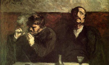 """""""Los fumadores"""" (1855), de Honoré Daumier"""