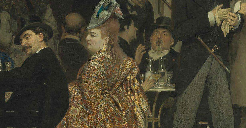 """A Parisian Café"" (1875), de Ilya Repin"