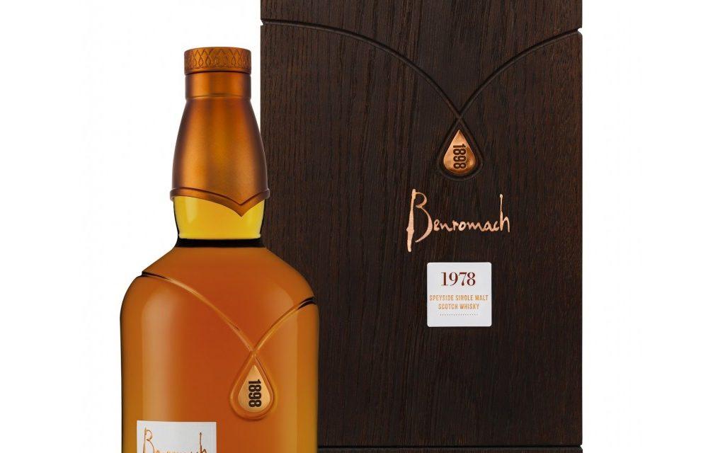 Benromach embotella whisky de barril de 40 años de edad con Benromach 1978
