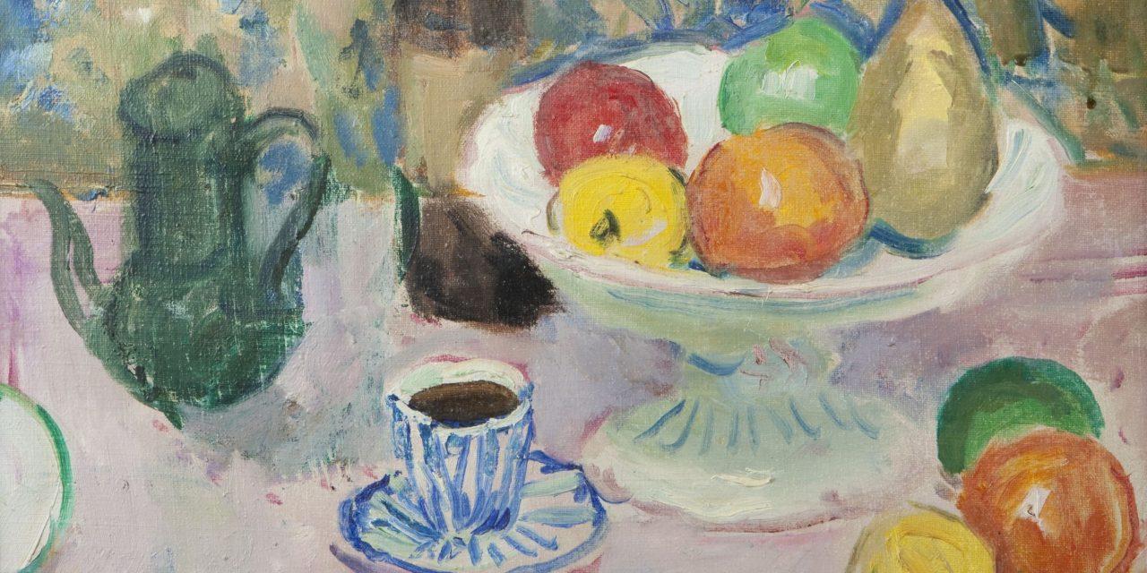 """""""Frutero y taza de café"""" (1952), de Charles Camoin"""