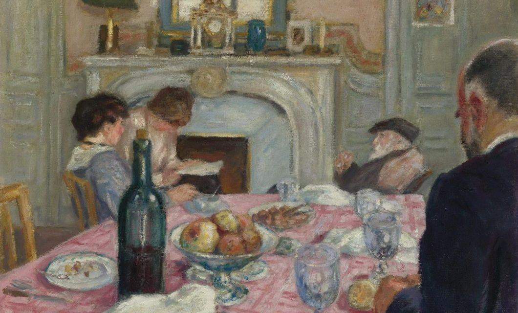 """""""After Breakfast in Renoir's house"""" (1917), de Albert André"""