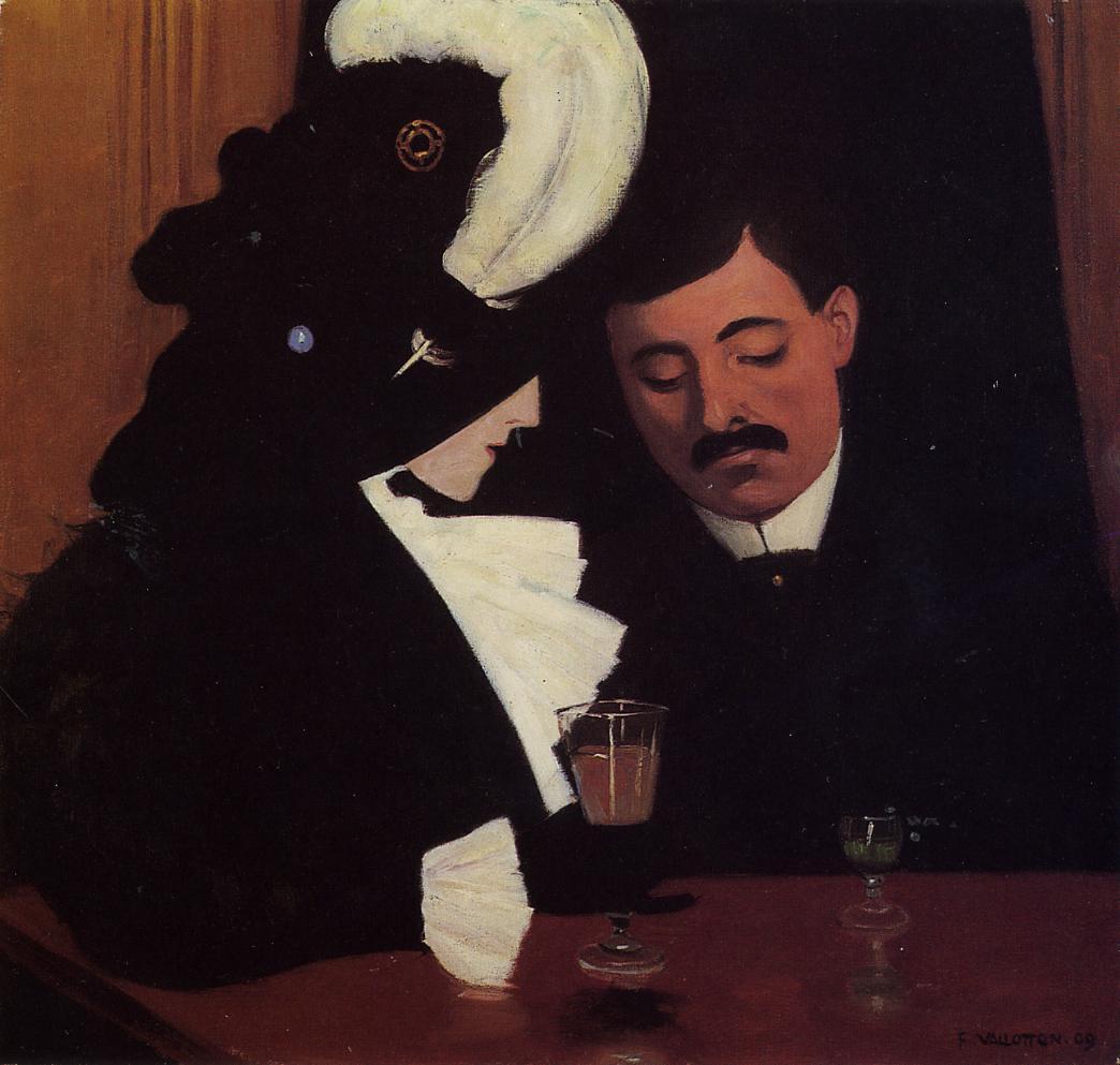 At the Cafe (1909), de Félix Vallotton