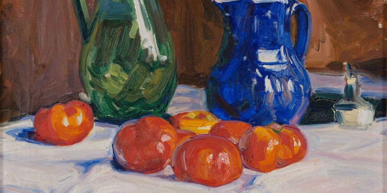 """Bodegón con tomates"" (1909), de Verner Thomé"