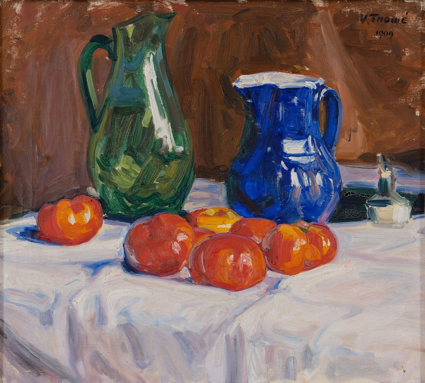 Bodegón con tomates (1909), de Verner Thomé