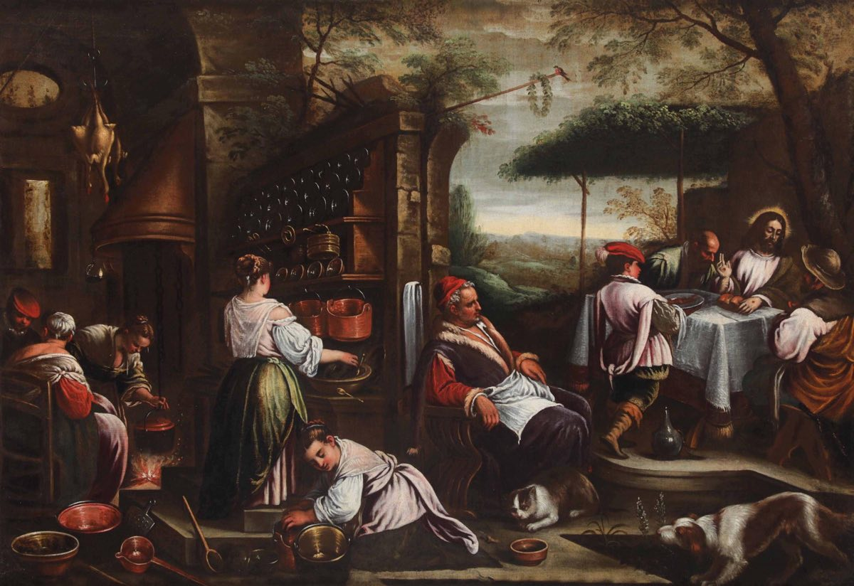 Cena di Emmaus (1538), de Jacopo Bassano