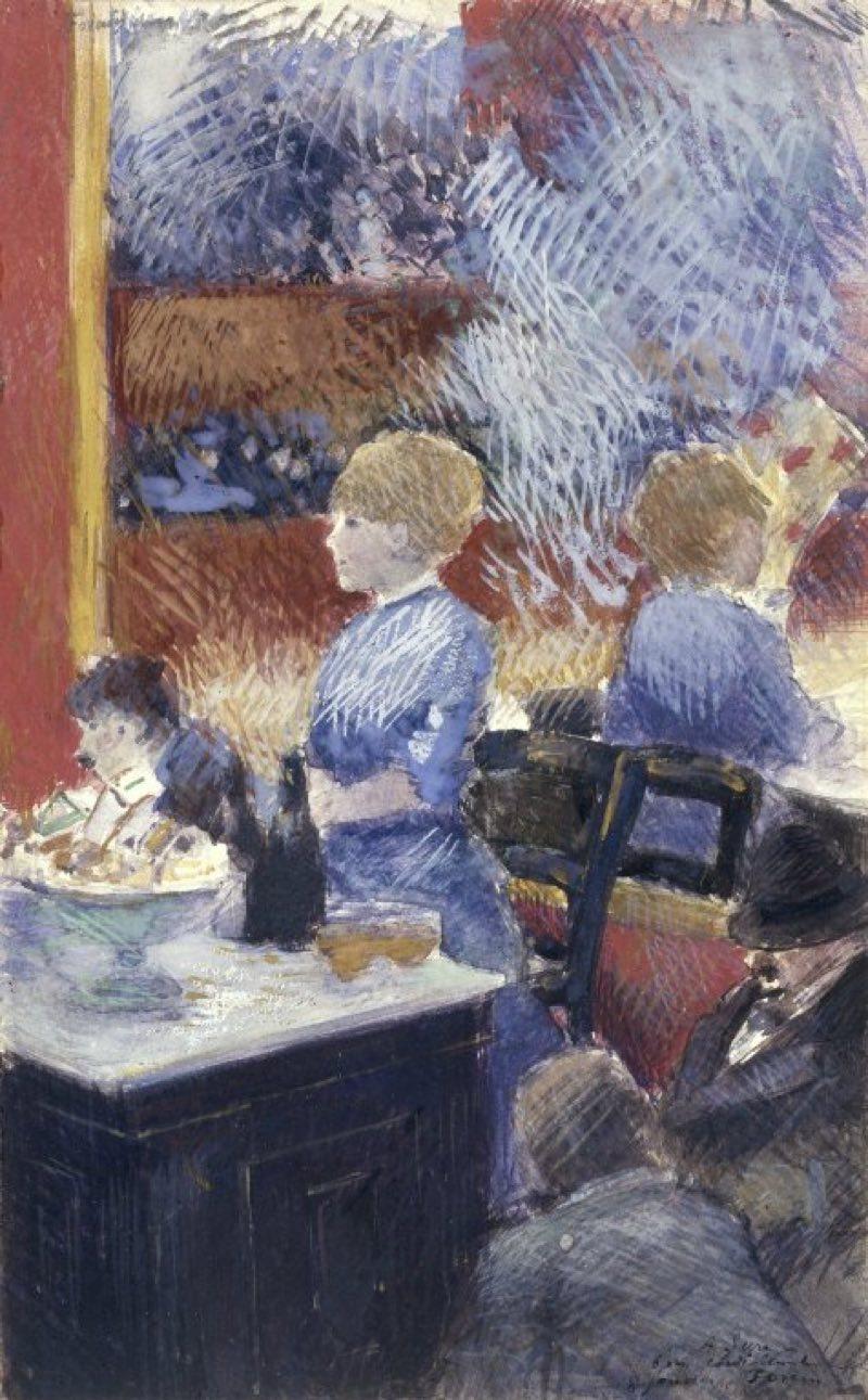El bar del Folies-Bergère (1878), de Jean-Louis Forain