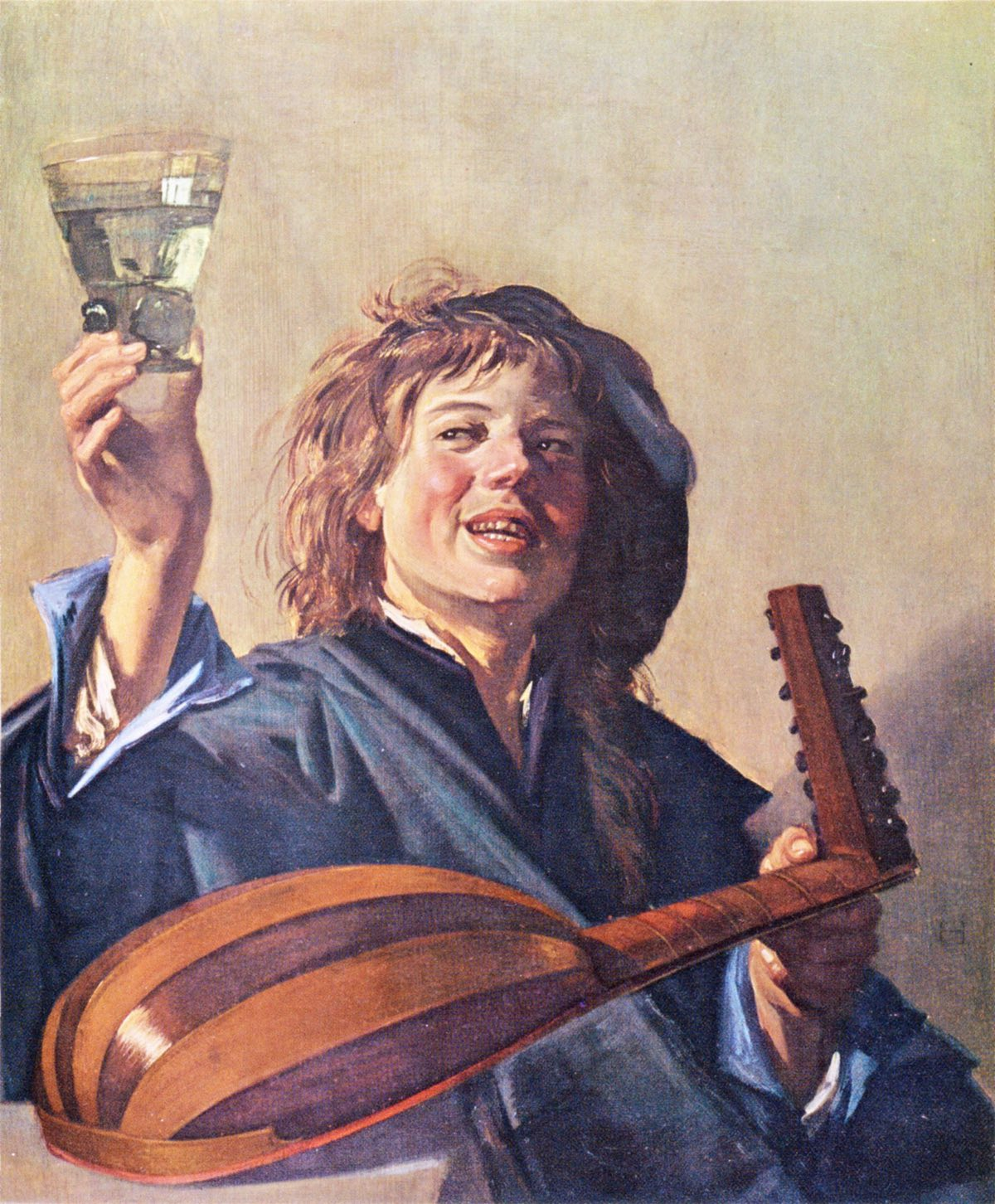 El músico de laúd feliz (1626), de Frans Hals