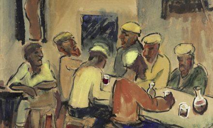 """""""Fischer In Der Trattoria, Monte Rosso"""" (1924), de Max Pechstein"""