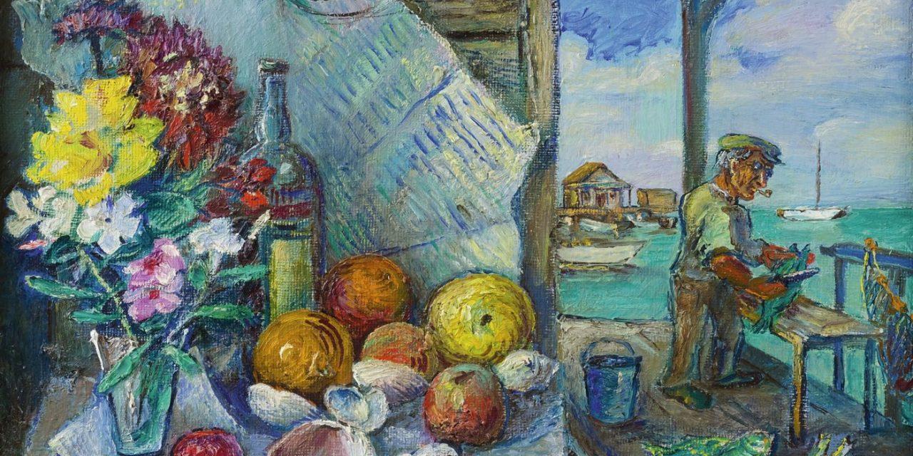 """La fiesta del pescador"" (siglo XX), de David Burliuk"