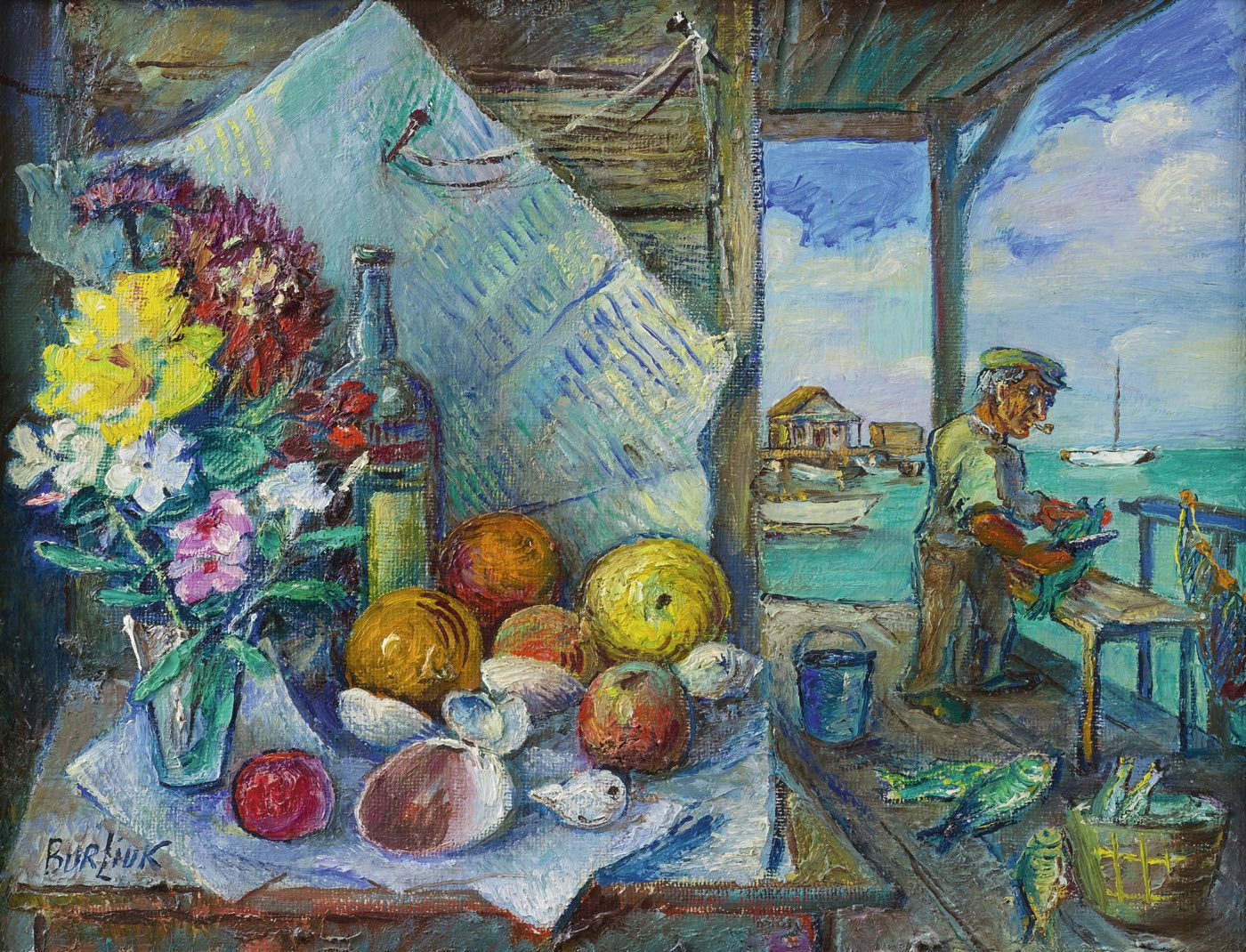 La fiesta del pescador (siglo XX), de David Burliuk