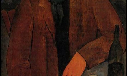 """Man with a Glass of Wine"" (1918), de Amedeo Modigliani"