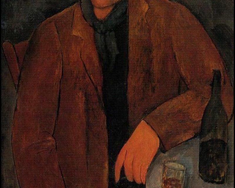 """Man with a Glass of Wine"" (1918), de Amedeo Modigliani"