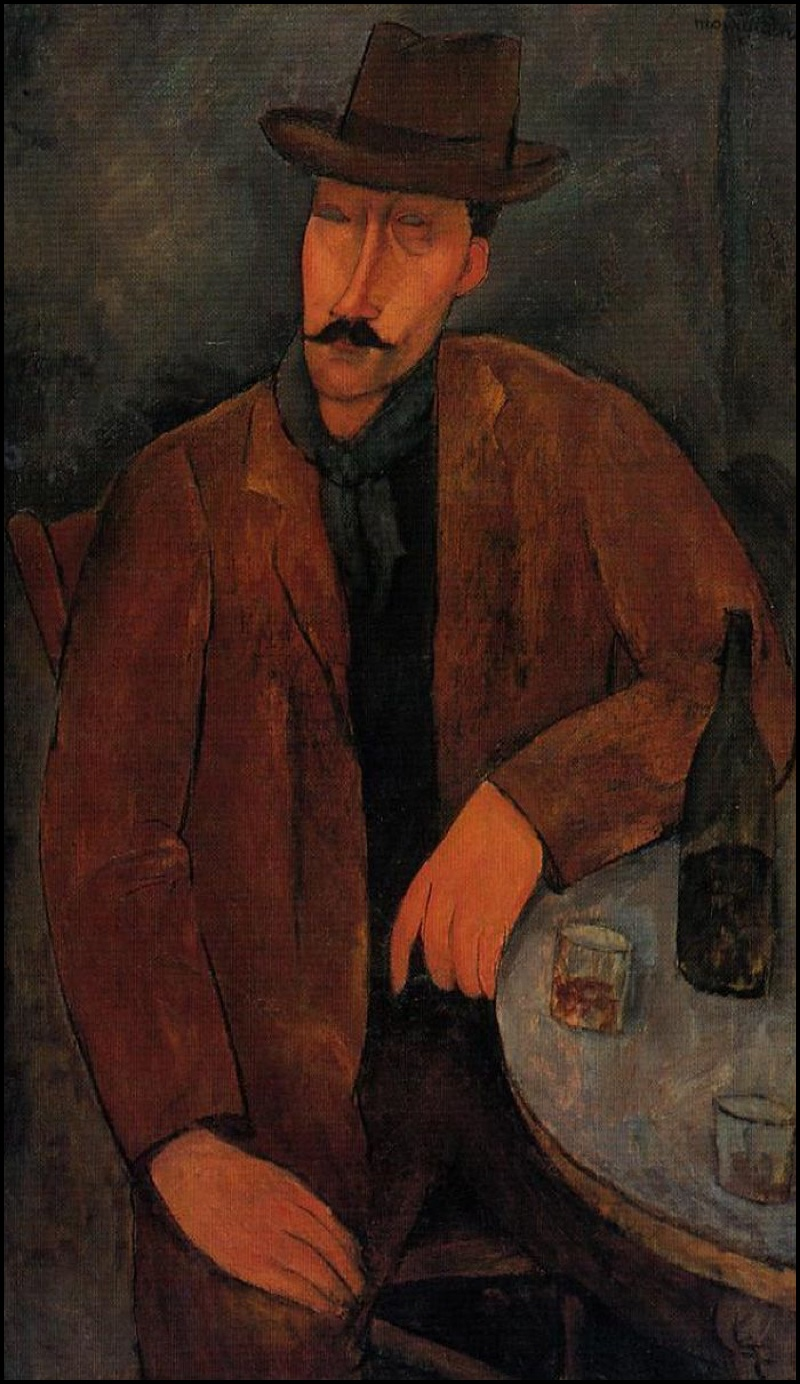 Man with a Glass of Wine (1918), de Amedeo Modigliani