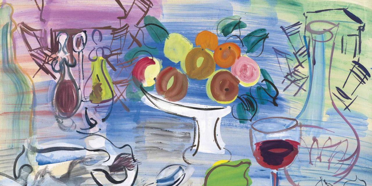 """""""Naturaleza muerta en el jardín"""" (1947), de Raoul Dufy"""