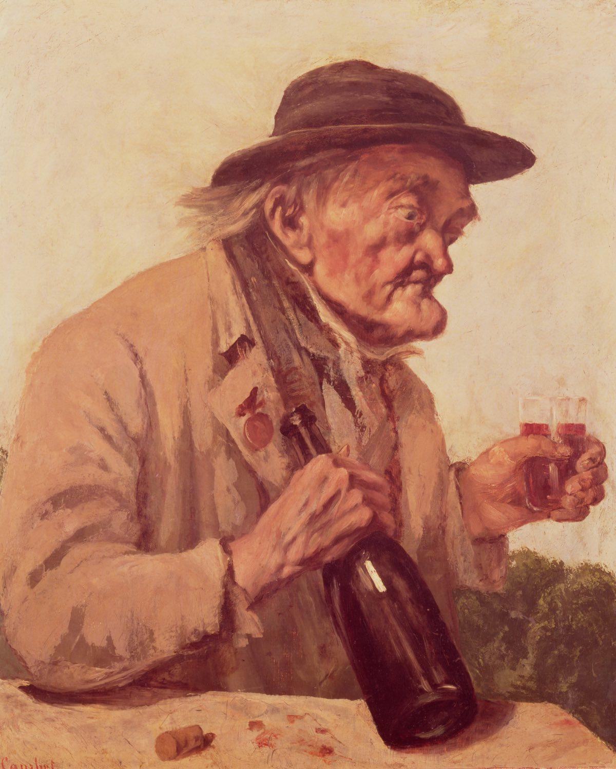 Old Man with a glass of wine (1860), de Gustave Courbet