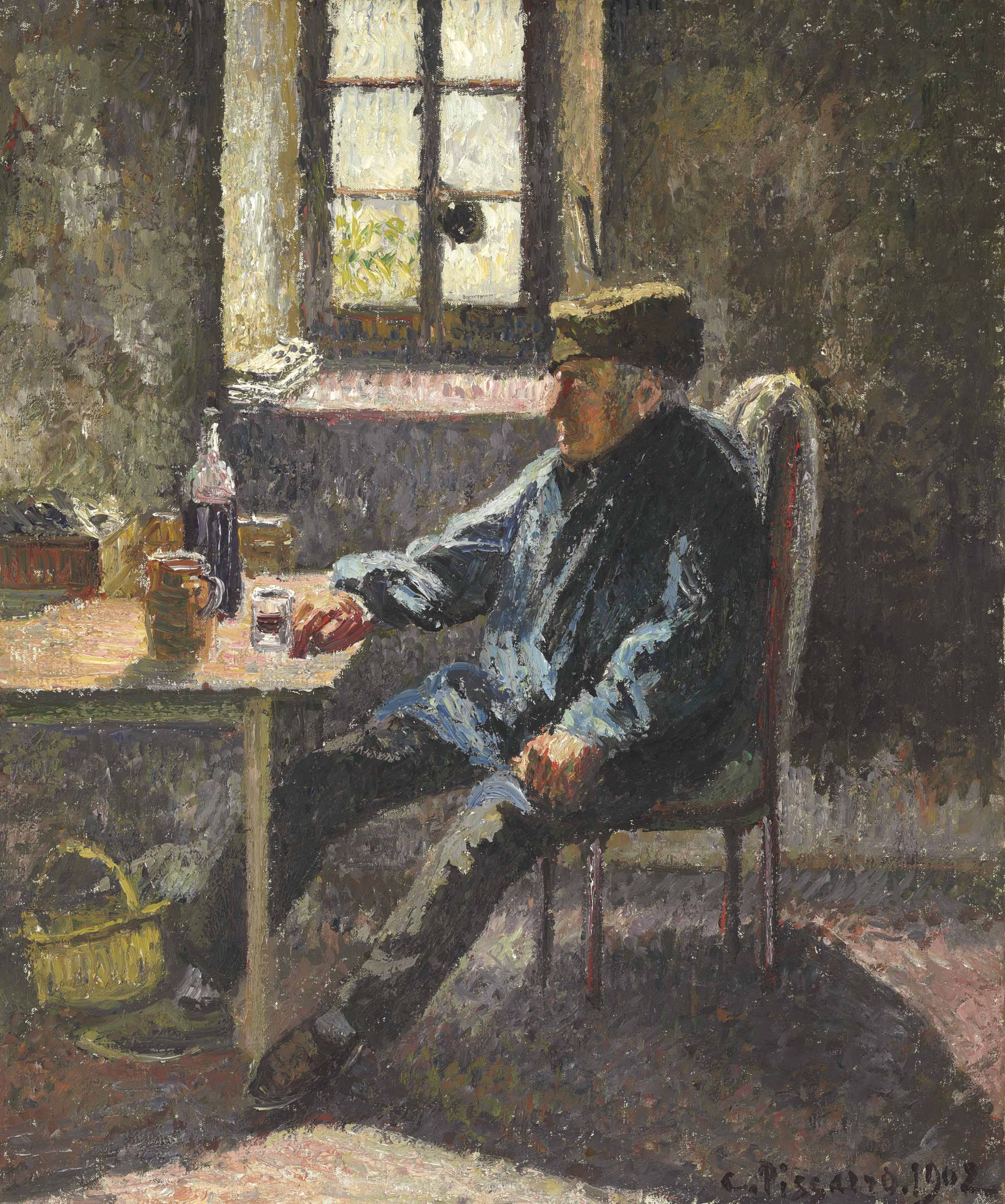 Old Wingrower, Moret (1902), de Camille Pissarro
