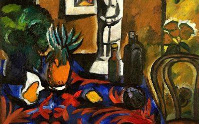 """Still Life with Pineapple"" (1909), de Natalia Goncharova"