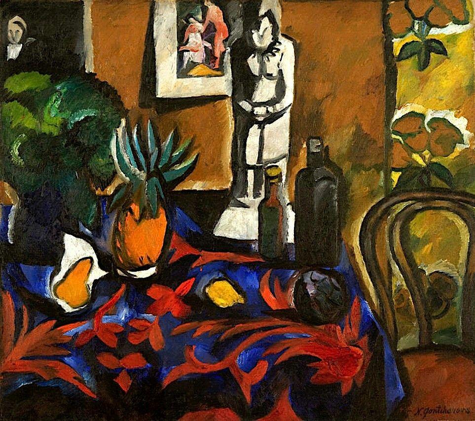 Still Life with Pineapple (1909), de Natalia Goncharova