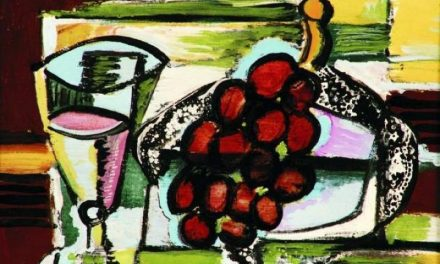"""Still Life with a Cup and Grapes"" (1948), de Emil Filla"
