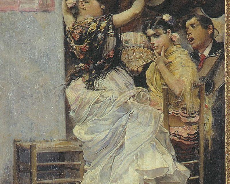 """""""Baile por bulerías"""" (1884), de José García y Ramos"""