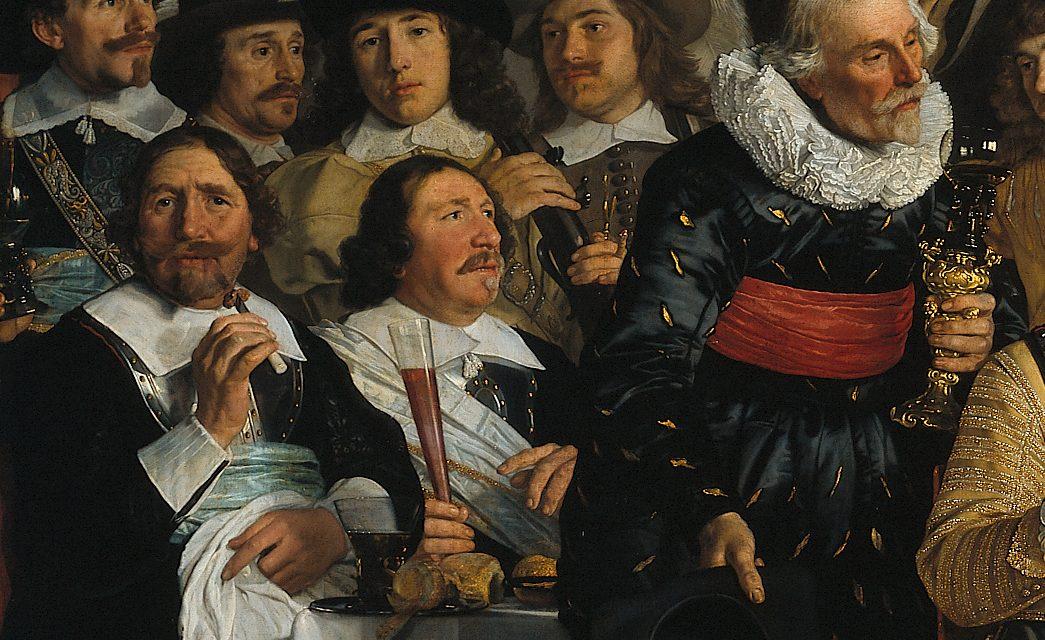 """""""Banquete de la Guardia Cívica de Ámsterdam en celebración de la paz de Münster"""" (1648), de Bartholomeus van der Helst"""