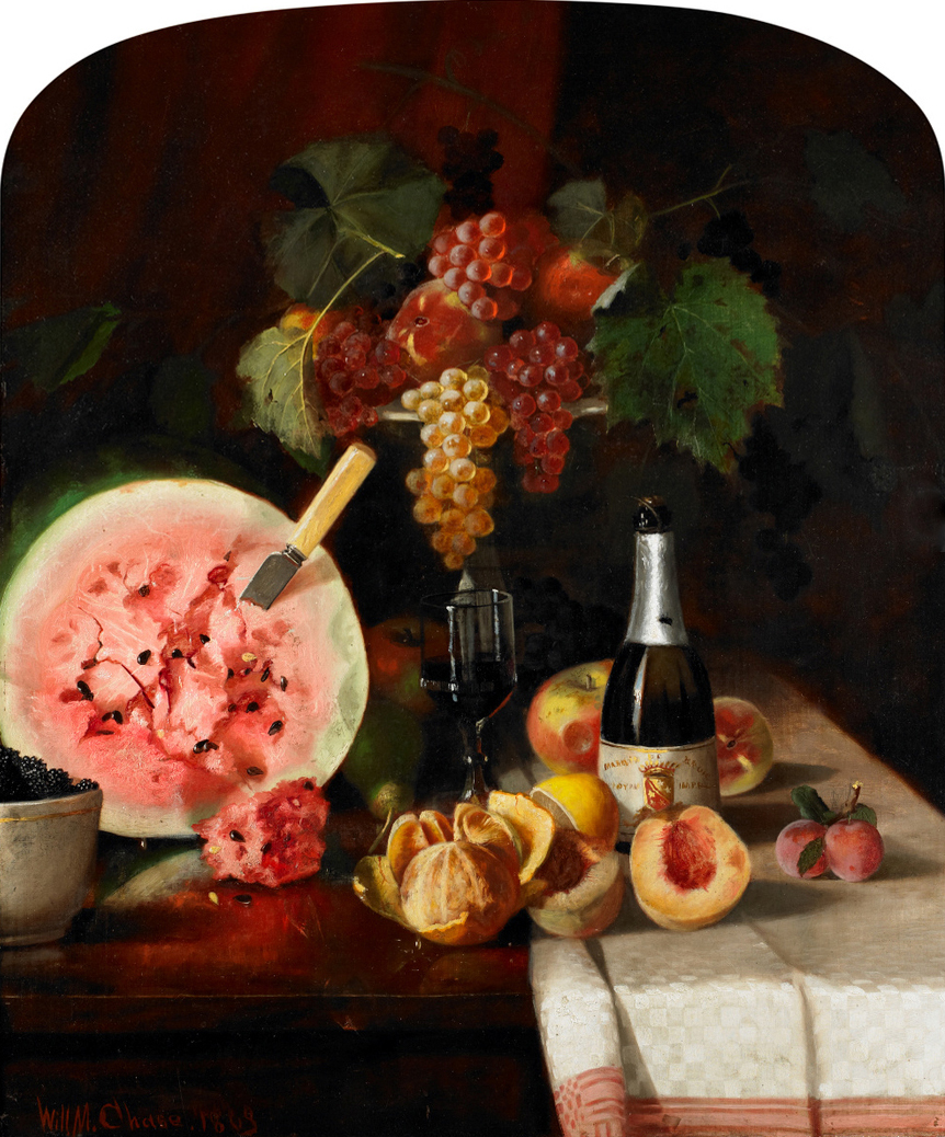 Chase_William_Merritt_Still_Life_With_Watermelon_1869