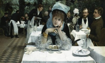 """At the Restaurant le Doyen, Paris"" (1878), de Ernest Ange Duez"