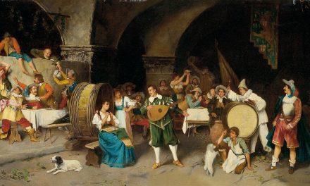 """Fiesta en la taberna"" (1880), de Luis Ricardo Falero"