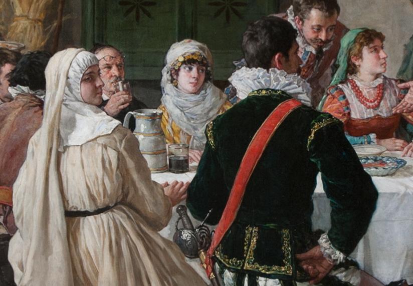 """""""Discurso que hizo don Quijote de las armas y las letras"""" (1884), de Manuel García Hispaleto"""