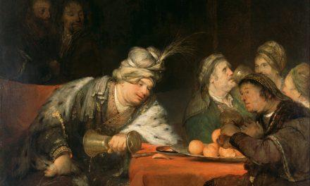 """""""The Banquet of Ahasuerus"""" (1680s), de Aert de Gelder"""
