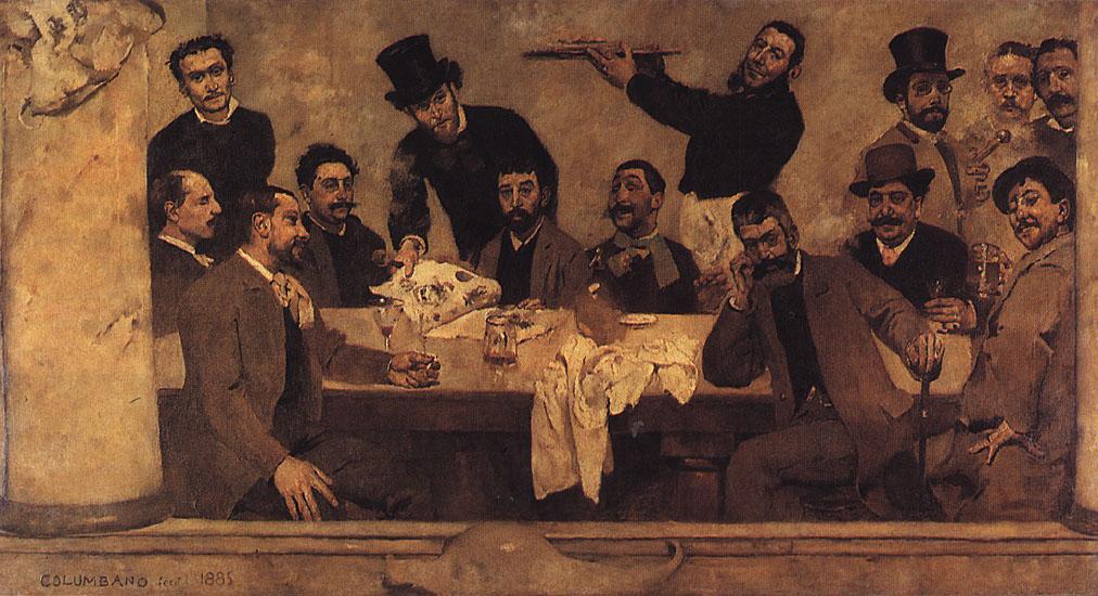 """""""The Lion Group"""" (1885), de Columbano Bordalo Pinheiro"""