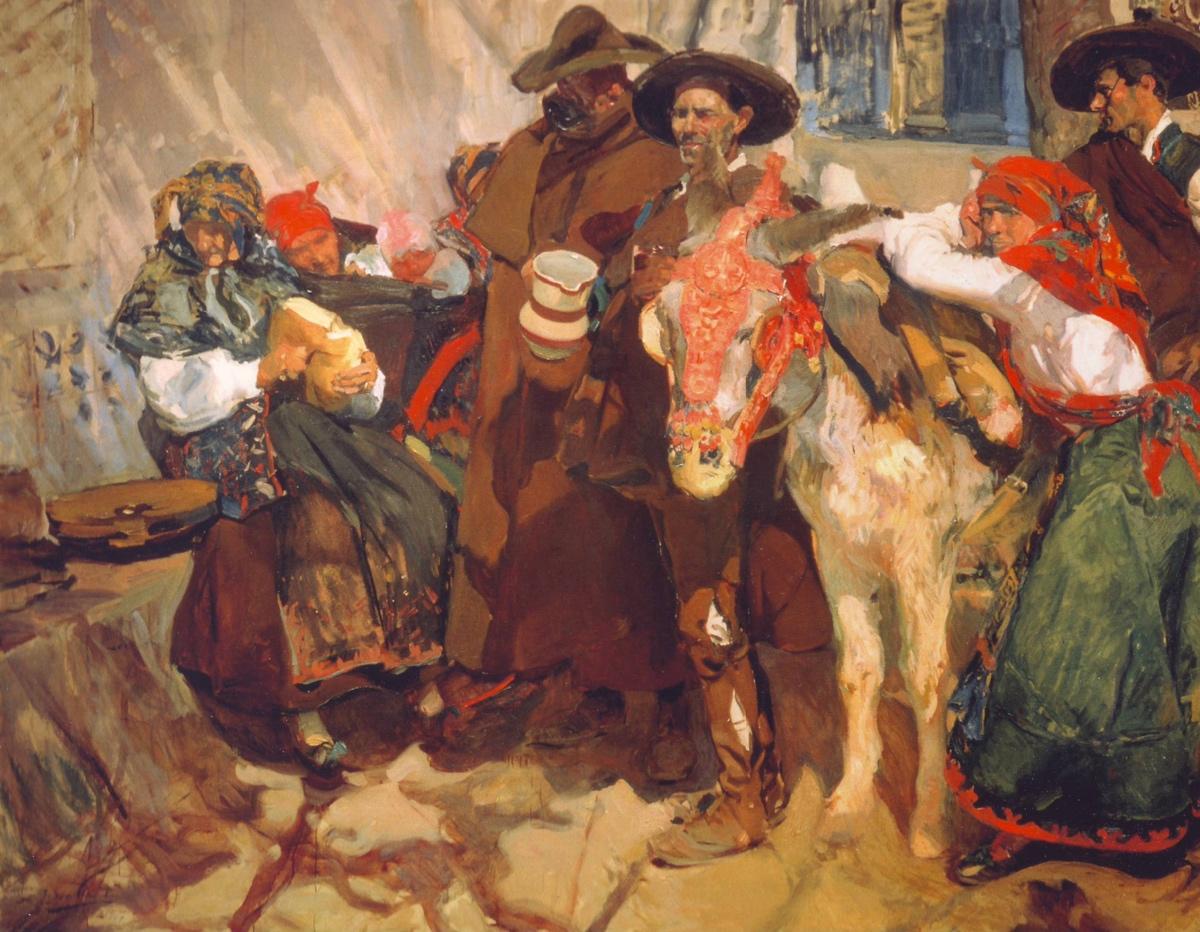 Joaquín_Sorolla-Aldeanos_leoneses-1907