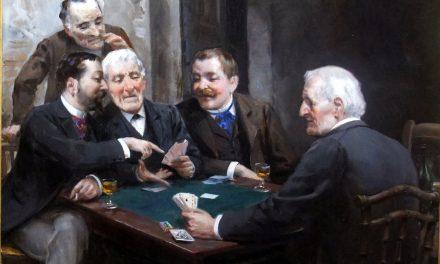 """""""Juego de los cientos, consejo tardío"""" (1895), de Ulpiano Checa"""
