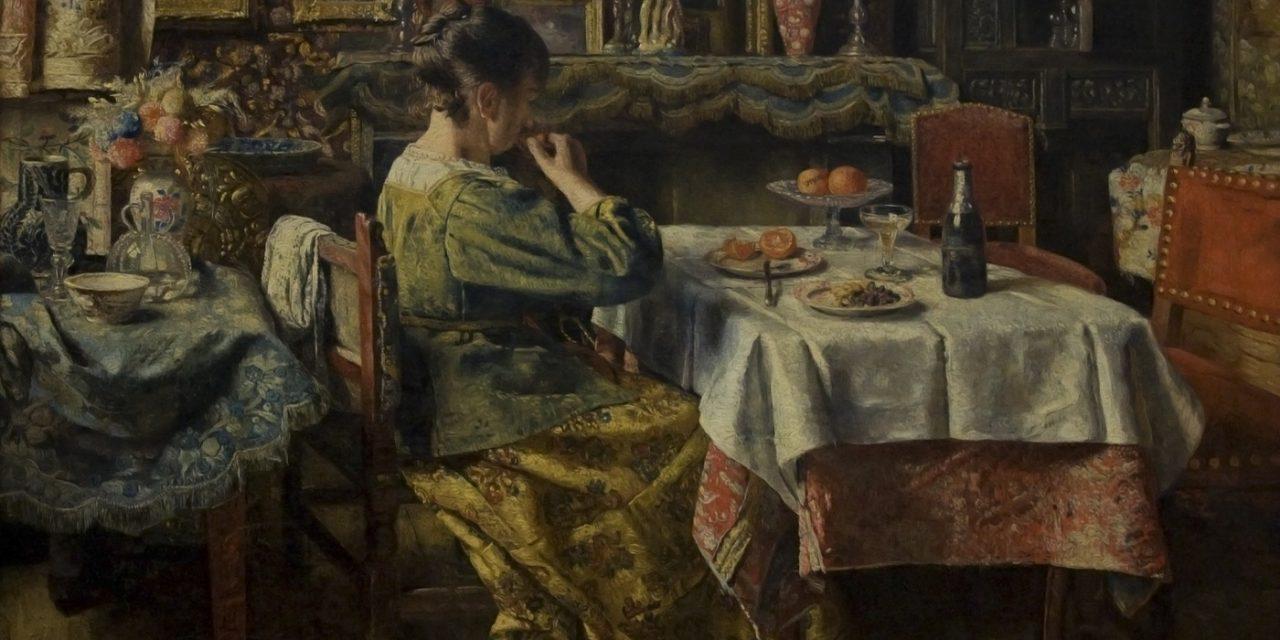 """La comida"" (1855), de Henri de Braekeleer"