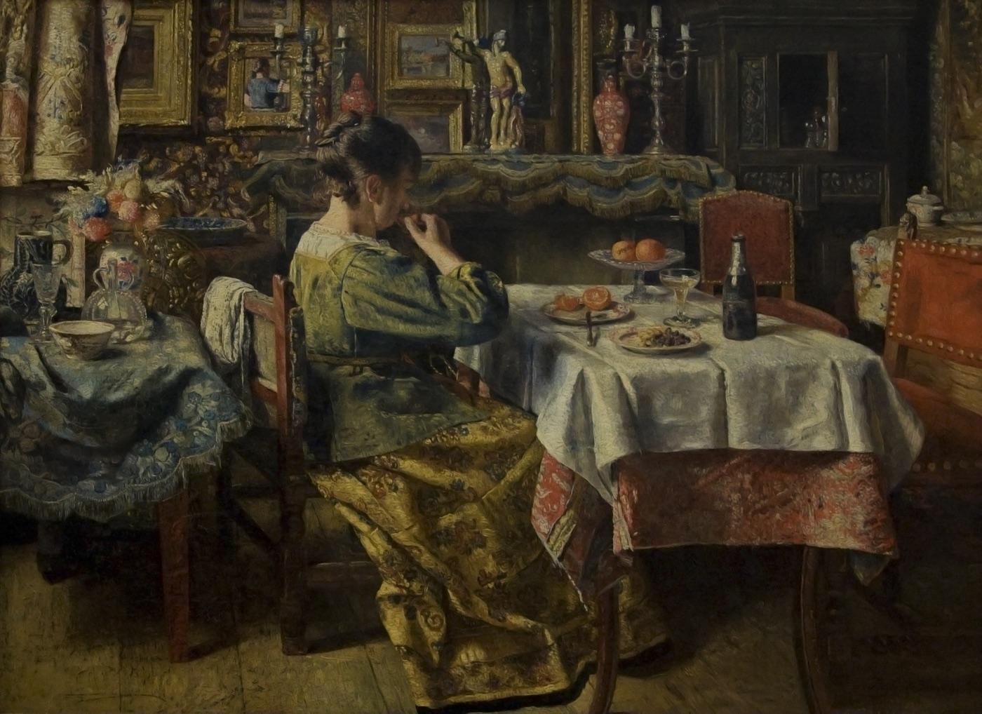 Kmska_Henri_de_Braekeleer_(1840-1888)_-_De_maaltijd_(1885)_28-02-2010_14-24-13