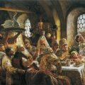 Konstantin Makovsky - A Boyar Wedding Feast in the 17th Century