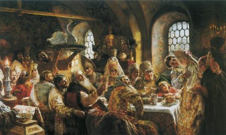 """A Boyar Wedding Feast in the 17th Century"" (1883), de Konstantín Makovski"