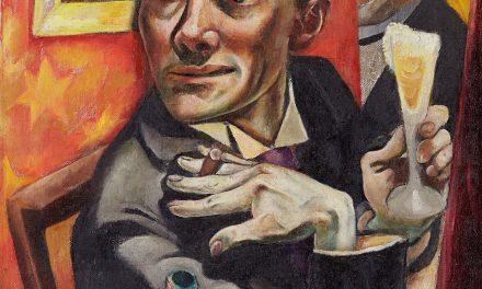 """""""Autorretrato con copa de champán"""" (1919), de Max Beckmann"""