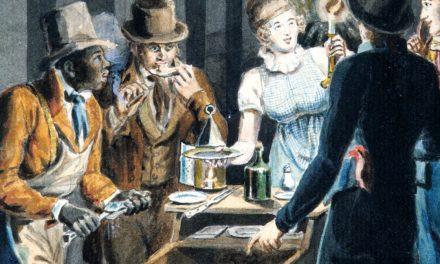 """Nightlife in Philadelphia"" (1811), de John Lewis Krimmel"